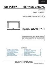 Buy Sharp 32JW74H (1) Service Manual by download Mauritron #207719