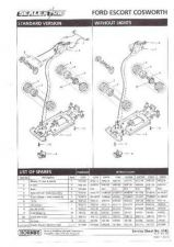 Buy Scalextrix No.314B Ford Escort Cosworth Service Sheets by download Mauritron #2