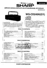 Buy Sharp. WQCD240H-004 Service Manual by download Mauritron #211817
