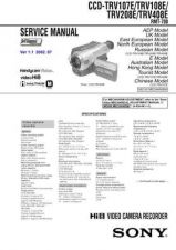 Buy Sony CCD-TRV107TRV108TRV308 Manual by download Mauritron #228178
