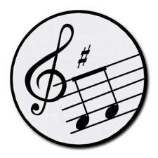 Buy Music Notes Treble Clef Round Computer Mousepad Mouse Pad