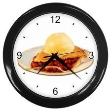 Buy Clock Cherry Pie A La Mode Dessert Kitchen Diner Restaurant Wall Art