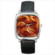 Buy Bacon Strips Wrist Watch Square Unisex New