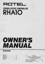 Buy ROTEL RHA10 Manual by download Mauritron #230400