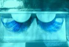 Buy Goth Blue and Black Eyelashes Brand New With Adhesive
