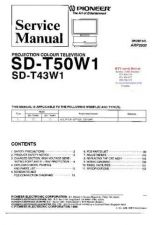 Buy PIONEER SDT50W1 SDT43W1 ARP2932 Technical Information by download #119360