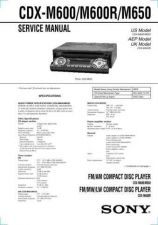 Buy Sony CDX-M600 CDX-M650 Technical Manual. by download Mauritron #242003