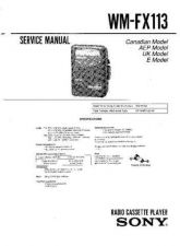 Buy Sony WM-FX113 Service Manual by download Mauritron #233448