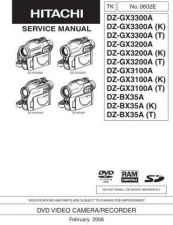 Buy Hitachi DZBX37A Service Manual by download Mauritron #261845