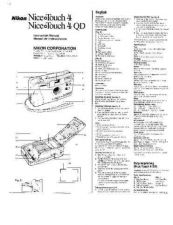 Buy NIKON Nice Touch 4 Instruction Manual by download Mauritron #266096
