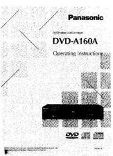 Buy Panasonic DVDA160A Operating Instruction Book by download Mauritron #235989