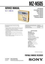 Buy Sony MZ-N505 Service Manual. by download Mauritron #243136