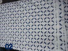 Buy 5 yards Indian Hand Made pure cotton fabric hand block printed natural fabrics