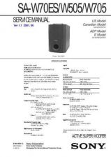 Buy Sony SA-W101-W301 Technical Manual. by download Mauritron #243757