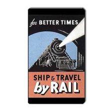 Buy Train Railroad Retro Travel Tourism Art Vinyl Magnet