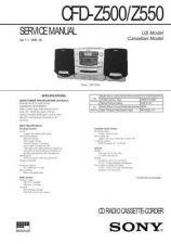 Buy Sony CFD-Z500-Z501-Z550 Service Manual by download Mauritron #238856
