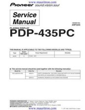 Buy Pioneer PDP-434PU-TUCK2] (3) Service Manual by download Mauritron #234994