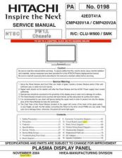 Buy Hitachi CHASSIS-PW1A Service Manual by download Mauritron #263531