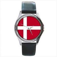 Buy Denmark Country Flag New Round Unisex Wrist Watch
