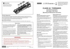 Buy Hornby Class A1 Tornado Maintenance Sheets by download Mauritron #206718
