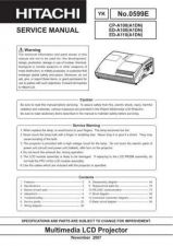 Buy Hitachi ED-A110 Service Manual by download Mauritron #262069