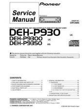 Buy Pioneer DEH-P9300-3 Service Manual by download Mauritron #233846