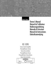 Buy ROTEL RC1090 Manual by download Mauritron #230377