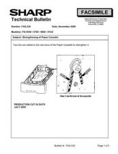 Buy SHARP FAX222 TECHNICAL BULLETIN by download #104390