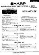 Buy Sharp RTW3400H -DE-FR Service Manual by download Mauritron #210349