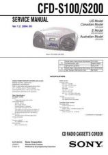 Buy Sony CFD-S100-S200 Service Manual by download Mauritron #238813