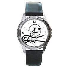 Buy Cereal Guy Internet Meme Comic New Round Wrist Watch