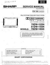 Buy Sharp 70DW15SN-18SN-81DW15SN Service Manual by download Mauritron #207917