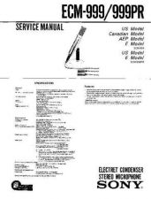 Buy Sony ECM-999 Service Manual by download Mauritron #240575