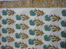 Buy 5yards Indian Hand Made pure cotton fabric hand block printed quilted fabrics