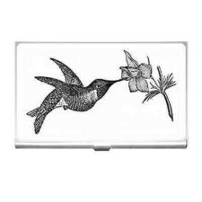 Buy Hummingbird Flower Vintage Style Business Credit Card Holder