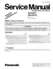 Buy Panasonic RX-D29GN Service Manual by download Mauritron #268559