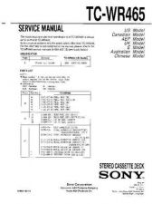 Buy Sony TC-WR661 Manual by download Mauritron #229906