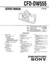 Buy Sony CFD-DW555 Service Manual by download Mauritron #238789