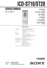 Buy Sony ICD-ST10-ST20 Service Manual by download Mauritron #232106