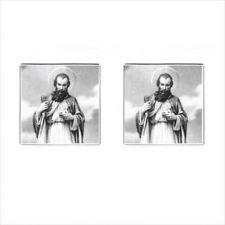 Buy St Jude Thaddeus Patron Saint Of The Impossible Mens Square Cufflinks