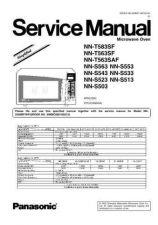 Buy Panasonic NN-T775SF Service Manual by download Mauritron #268248