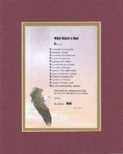 Buy Poem For Fathers - What Makes a Dad? . . . 11x14 Burgundy DoubleMatting