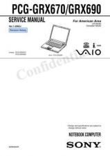Buy Sony PCG-FXA680 Service Manual. by download Mauritron #243306