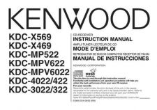 Buy Kenwood KDC-X569 Operating Guide by download Mauritron #219104