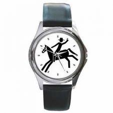Buy Cowboy Rodeo Horse Unisex Round Wrist Watch
