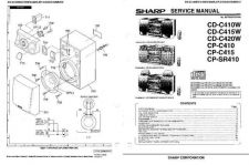 Buy Sharp CDC410W-C415W-C420W Service Manual by download Mauritron #208488