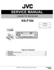 Buy JVC SERVICE_MANUAL_KS_F184_KSF184 Service Manual by download Mauritron #273588
