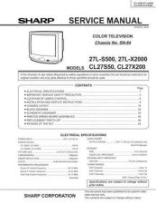 Buy Sharp 27LS500 Service Manual by download Mauritron #207512