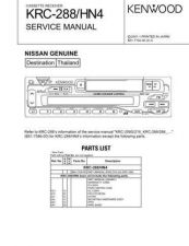 Buy KENWOOD KRC-288 AD3 Technical Information by download #118713