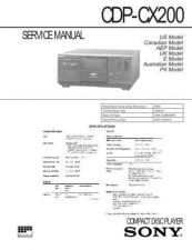 Buy SONY CDP-CX200 SERVICE INFORMATION Manual by download Mauritron #230449